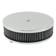 """EMPI VW Bug 6-3/8"""" Round Air Cleaner Stock Carb, 2-1/2 """" Tall Gauze Element 8957"""