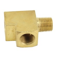 VW Bug Baja Beetle Type-1 Brass T Fitting 1/8 Inch for Gauges, Each