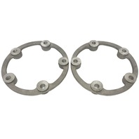 "Aluminum Wheel Spacers, Pair, 14mm, 5x205, 1"" Thick, For VW Beetle Dune Buggy Bug"