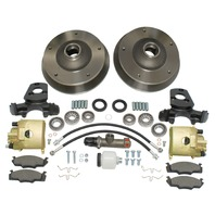 EMPI Front Disc Brake Kit, 5x205mm Bolt Pattern, Compatible With Porsche 356 A B 1958-1963