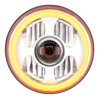 "7"" High Power Led Projection Headlight With Dual Function Led Halo Ring"