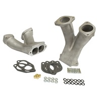 Stage 2 Match-Ported Tall Manifolds for 48/51 EPC/IDA Carburetors, Pair
