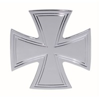 Pirate Mfg H20032XC Iron Cross Chrome Billet Hitch Plug Cover Ford Chevrolet GM