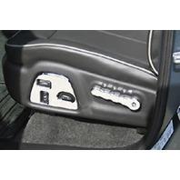 Pirate Mfg H30005SC 2006-2010 H3 & H3T Chrome Billet Seat Control Bezels, Pr.