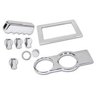 Mustang Chrome 9 Pc. Billet Interior Kit, Fits 2005-2009
