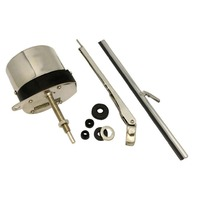12V STAINLESS WINDSHIELD WIPER MOTOR KIT STREET RAT ROD JEEP CHEVY MOPAR FORD