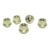 Zinc Lug Nuts, M12-1.5, Ball Seat, Set of 5