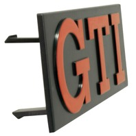 GTi Grille Badge, 85-87 Cabriolet, 74-83 Golf, 76.5-84 Rabbit, 79-83 Rabbit Conv