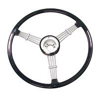"""Banjo"" Style Vintage Steering Wheel Kit, Black"