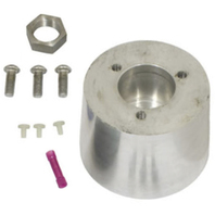 Steering Wheel Boss Kit, 3-Bolt Mount w/ 40 Splines, Fits Type 1/Ghia 60-74 1/2, Type 3 61-71