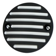 Point Cover, Millennium, Black, Ball-Milled, Harley 84-99 & 04-10 XL