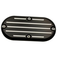Black Ball Milled Inspection Cover Fits 70-06 Harleys