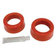 "Smooth/Round Type Grommets, 1-7/8"" I.D., Small O.D., Early Swing Axle, Pr., Red"