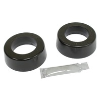 "Smooth/Round Type Grommets, 1-3/4"" I.D. Early Swing Axle, w/ EMPI H.D. Spring Plates, Pr, Black"