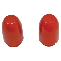 Rear Suspension Bump Stop, Type 1/3, Pair, Red, Compatible with VW Beetle/Bug