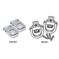 2003-2010 H2 Hummer Chrome Billet Front and Rear Tow Hook Set