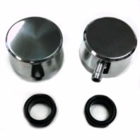 Hot Rod Polished Billet Aluminum PCV & Valve Cover Breather Kit W/ Grommet