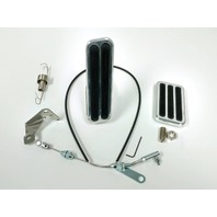 "Billet Aluminum Gas & Brake Pedal / 36"" Throttle Cable / Floor Mount Kit"