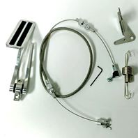 """Aluminum Gas Pedal / 36"""" Stainless Braided Throttle Cable / Firewall Mount Kit"""