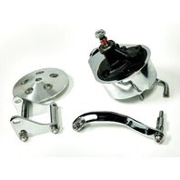 SBC Chevy Chrome Saginaw Style Power Steering Pump w/ Bracket & Pulley