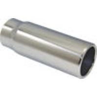 """Stainless Steel  Rolled Edge Exhaust Tip 2.5"""" Inlet - 3"""" Outlet - 8"""" Long"""