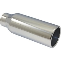 """Stainless Steel  Rolled Edge Exhaust Tip 2.25"""" Inlet - 3.5"""" Outlet - 10"""" Long"""