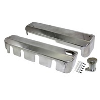 Chevy LS Style Fabricated Polished Aluminum Valve Ignition Coil Covers GM