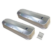 Chevy BBC Long Bolt Fabricated Polished Aluminum Valve Covers 396-454-502 65-95