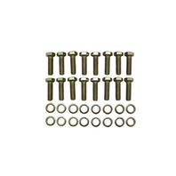 Zinc BB Chevy Intake Hex Head 16pc Bolt Kit BBC 396-454 AMC