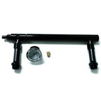 Aluminum Holley 4150 Double Pumper Black Fuel Line Log Anodized w/ White Gauge