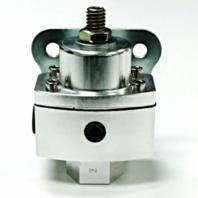 "5-12 PSI Aluminum Adjustable Fuel Regulator - High Pressure - 3/8"" NPT Ports"
