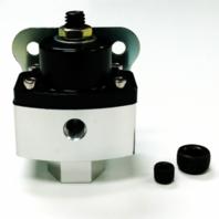 "5-12 PSI Aluminum Adjustable Fuel Regulator Black - High Pressure 3/8"" NPT Ports"