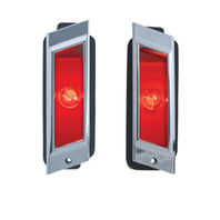 Rear Marker Light Assembly Chrome Bezel, Pair, Fits Chevy Impala/Biscayne/Caprice 1968