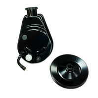 BBC SBC Chevy Black Saginaw Style Power Steering Pump w/ Single Groove Pulley