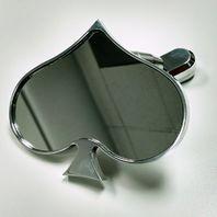 Polished Aluminum Rear View Spade Mirror - Universal Custom Hot Rat Street Rod