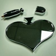 Chrome Aluminum Rear View Spade Mirror - Universal Custom Hot Rat Street Rod
