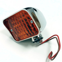 XL Bullet Turn Signal Light, Amber Lens, Universal Mount - Hot Rat Street Rod HD