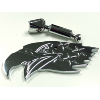 Chrome Aluminum American Eagle Interior Rear View Mirror - Hot Rat Street Rod