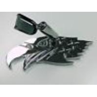 Chrome Aluminum American Eagle Interior Rear View Mirror - Hot Rat Street Rod