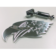 Polished Aluminum American Eagle Interior Rear View Mirror - Hot Rat Street Rod