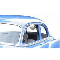 "4"" Polished Steel Universal Peep Mirror Bundle -Short Arm w/ LED Turn Signal,"
