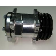 Sanden 508 A/C Compressor 12V V-Belt Pulley, Polished Alum - Hot Rat Street Rod