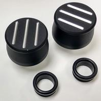 Hot Rod Black Ball Milled Aluminum Valve Cover Breather Kit W/Grommet SBC BBC V8