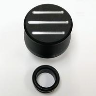 Hot Rod Black Ball Milled Aluminum Valve Cover Breather w/Grommet SBC BBC V8