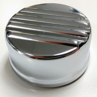 Chrome Oil Filler Cap, Ribbed, Compatible With Volkswagen Type 1-2-3, Ghia
