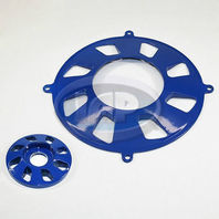 VW BUG GENERATOR PULLEY/ALTERNATOR  PULLEY 2-PIECE COVER SET BLUE