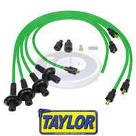 VW BUG BAJA SAND RAIL CAR SILICONE IGNITION PLUG WIRE SET GREEN 8MM,TAYLOR USA
