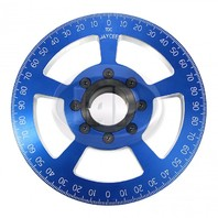 "7"" Street Car Crankshaft Power Pulley Billet, Blue For Air Cooled VW"