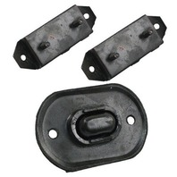 TRANSMISSION MOUNT KIT, 3 PC,  1966-72 VW TYPE 1 BEETLE & GHIA, 66-67 TYPE 3
