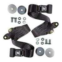 (2) VW Bug Ghia Type 3 Buggy 2-Point Lap Belt GREY Seat Belts, Pair  EMPI 18-1023
